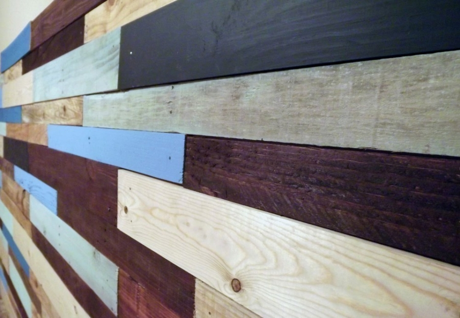 pared de pallets