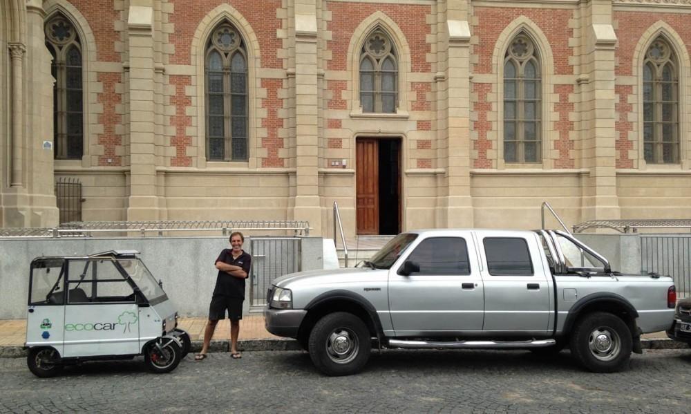 el auto eléctrico más pequeño de América Latina - dimensiones