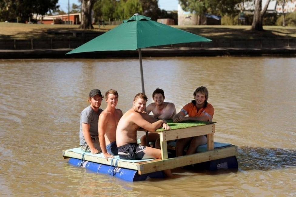 mesa bote flotante - cómo construir