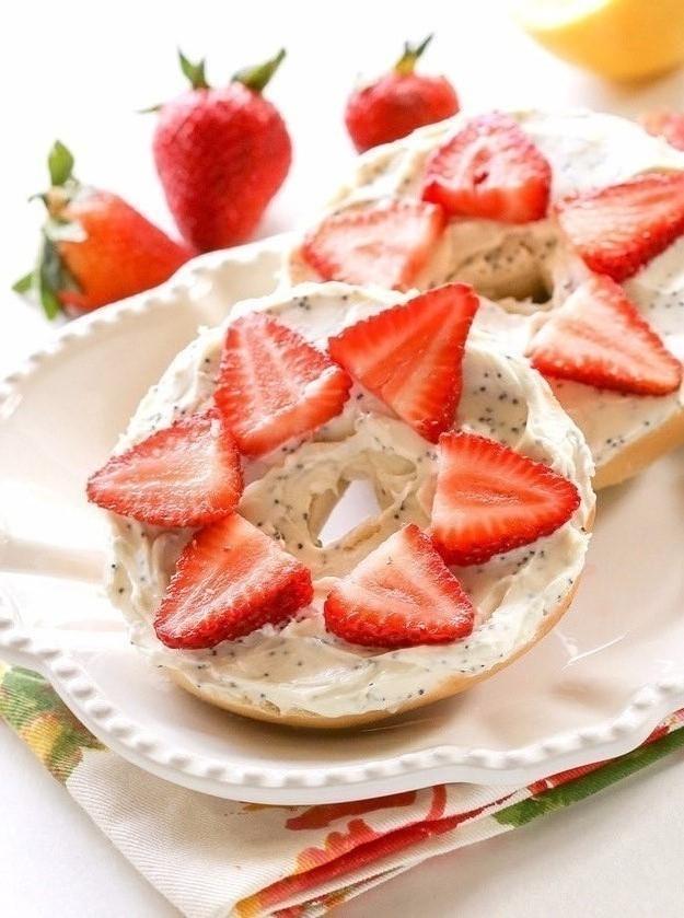 Snacks saludables -baggels de fresa