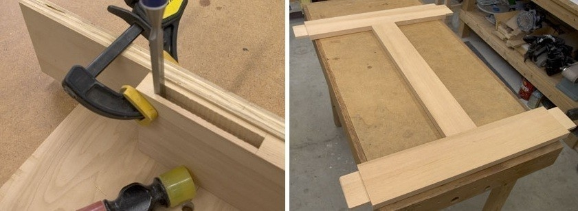 Puerta mosquitero - encastre de piezas