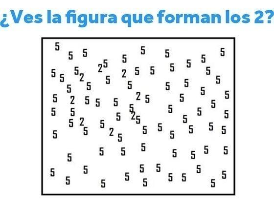 Intenta identificar cuál figura forman los números 2