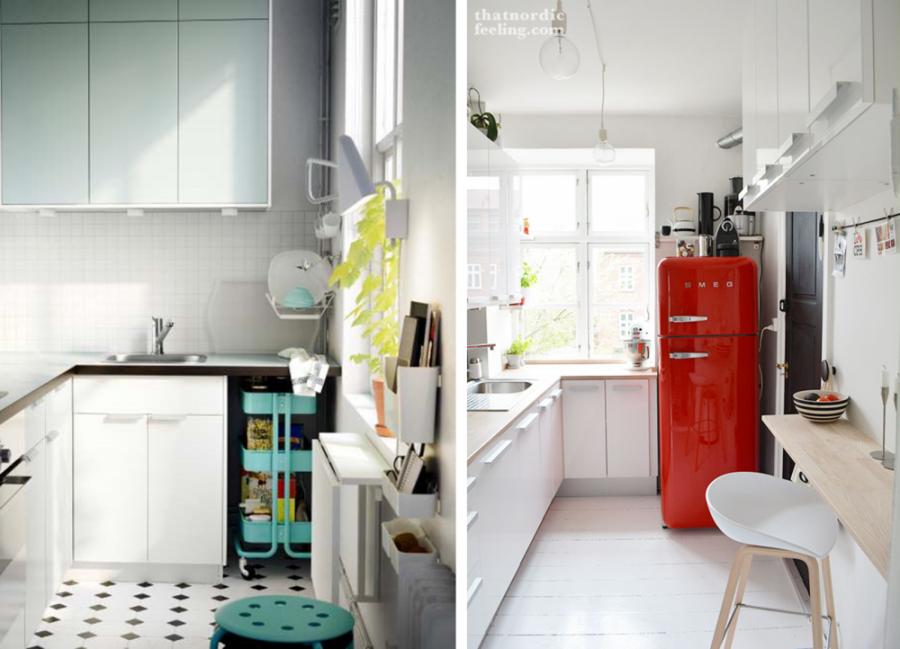 ideas para cocinas- mesas laterales