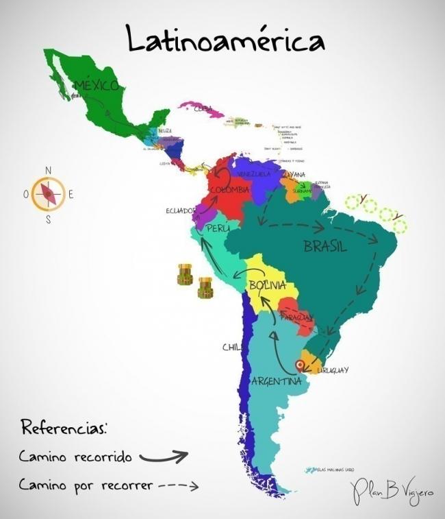 Plan B viajero  - mapa
