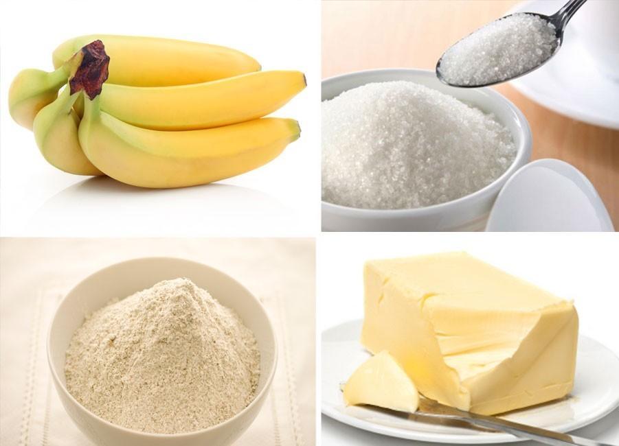 Budin de banana - ingredientes