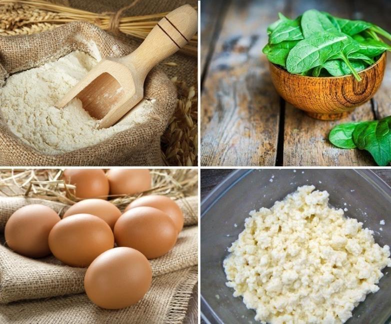 Sorrentinos de ricota y rúcula - ingredientes
