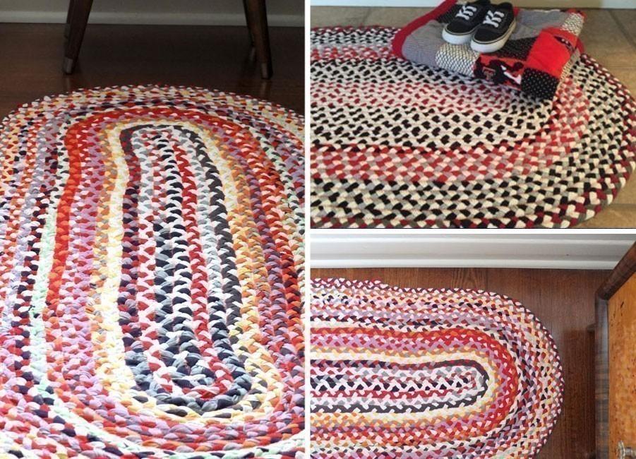 Ideas para hacer con una vieja remera - alfombra