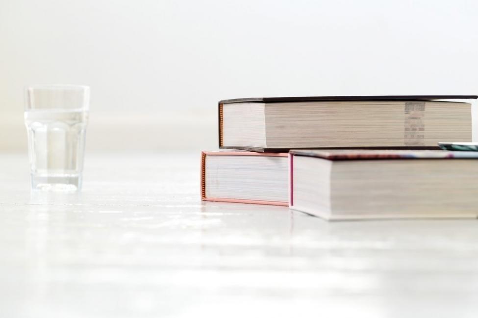 agua y libros