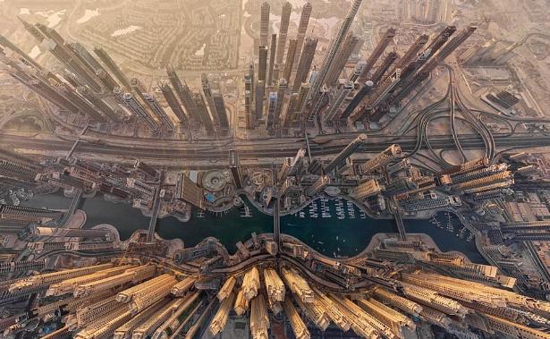dron ciudades