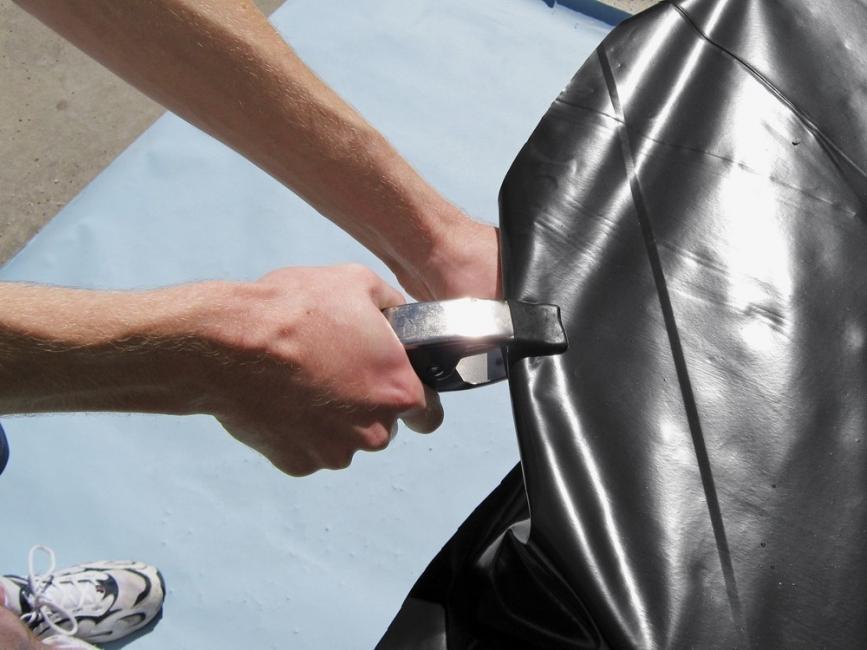 climatizador solar para piscinas- sujetar con pinzas