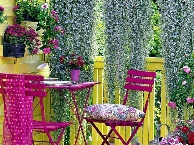 terraza de colores