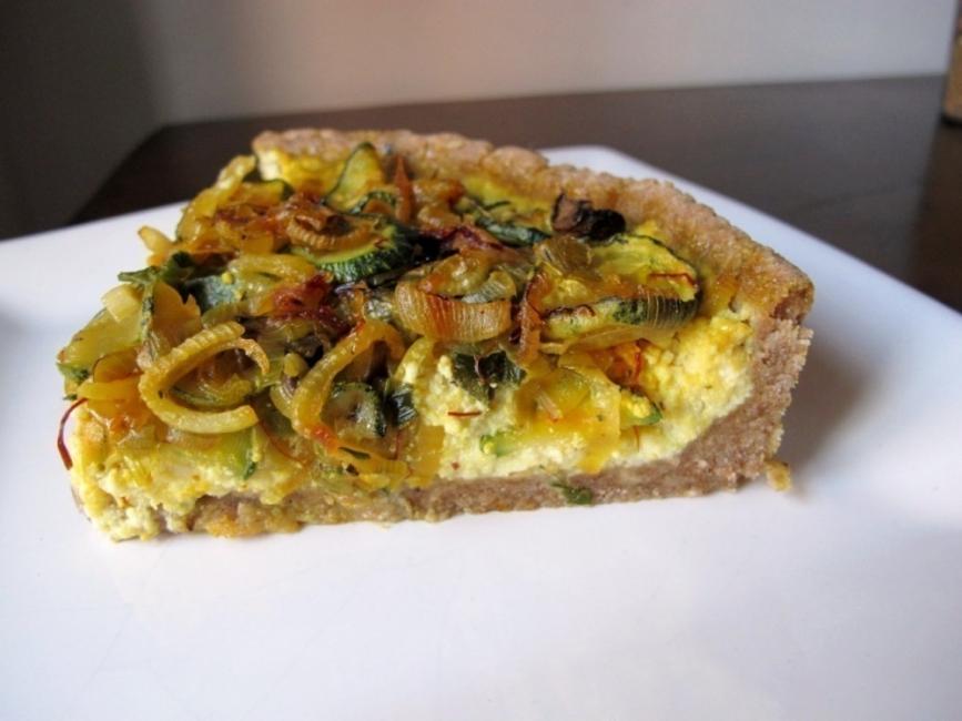 Tarta multicereal de verduras y ricota-