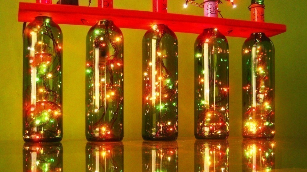 Luces en cadena  - botellas de vino