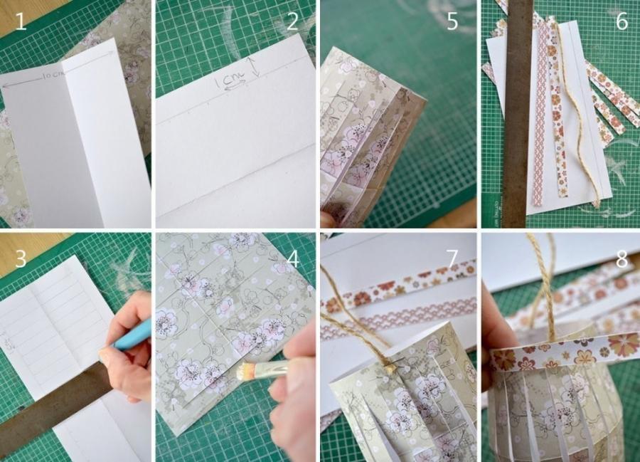 Cómo hacer una guirnalda de farolillos- paso a paso