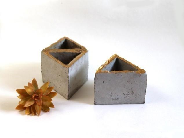 macetas modulares - con suculentas - tres