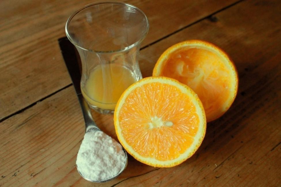 mascarilla de naranja y bicarbonato