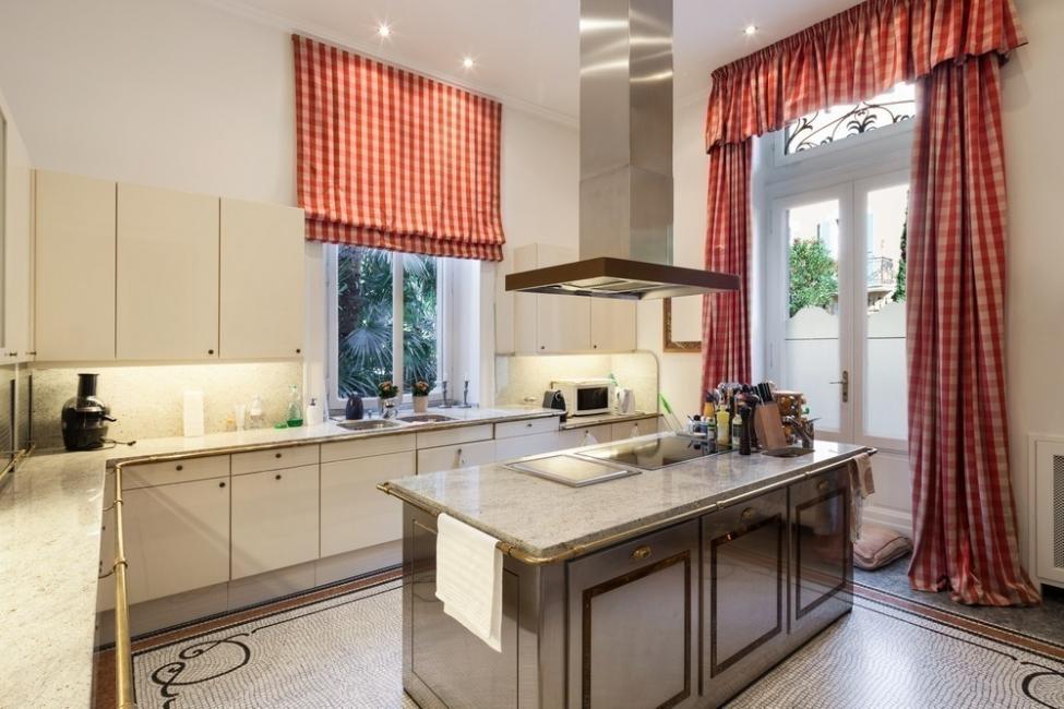 cortinas sin coser - cocina