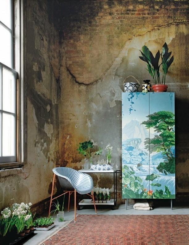 Cómo decorar con estilo tropical- mueble pintado