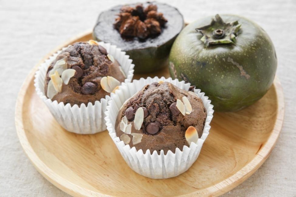 muffins de zapote negro