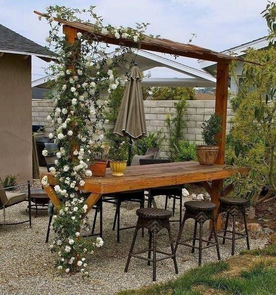 Rincones cubiertos para disfrutar del aire libre -  gazebo-mesa