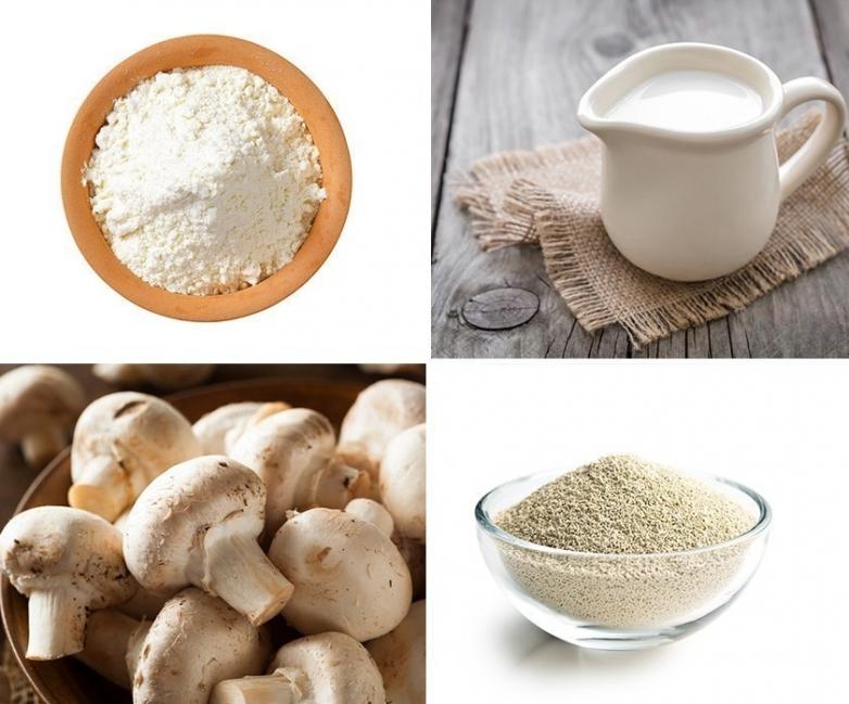 pan de champiñones- ingredientes