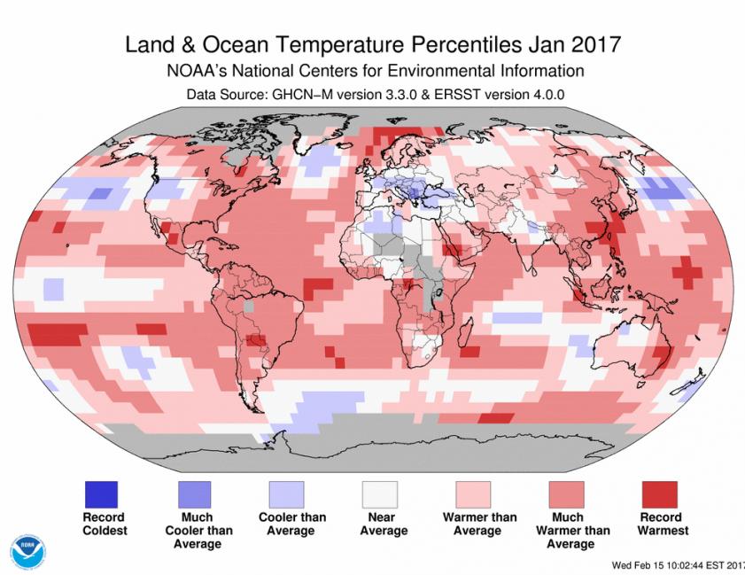 El 2017 fue uno de los años mas calurosos para los mares