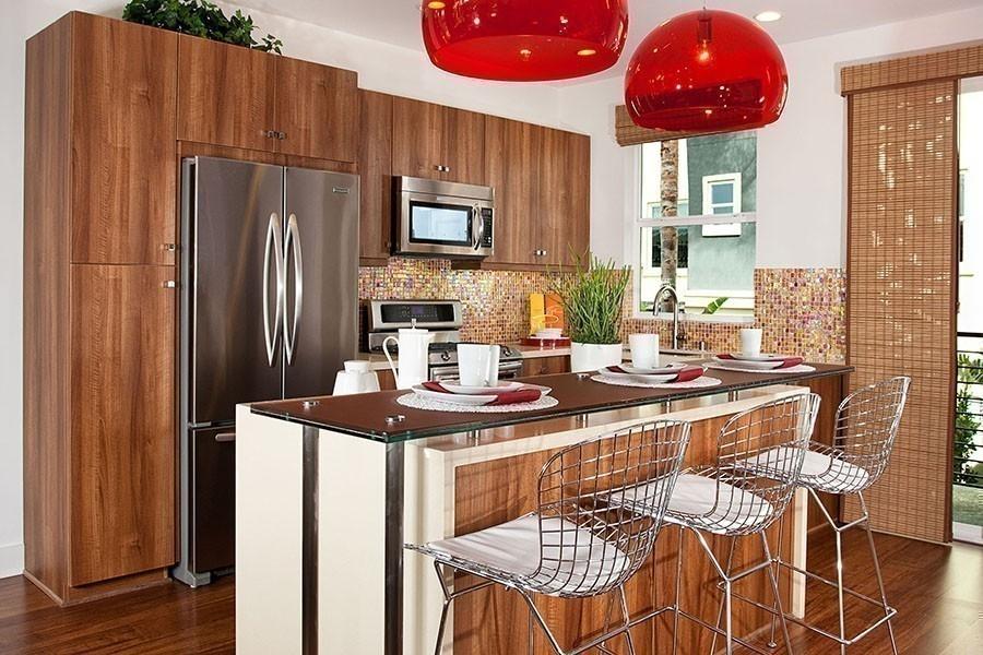 12 ideas para armar una práctica barra en la cocina- barra isla