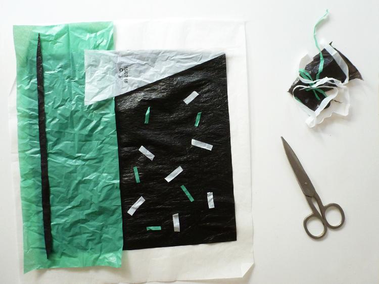 bolsas plásticas en una lunchera- decorar