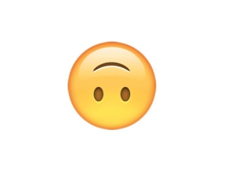 emoji dado vuelta