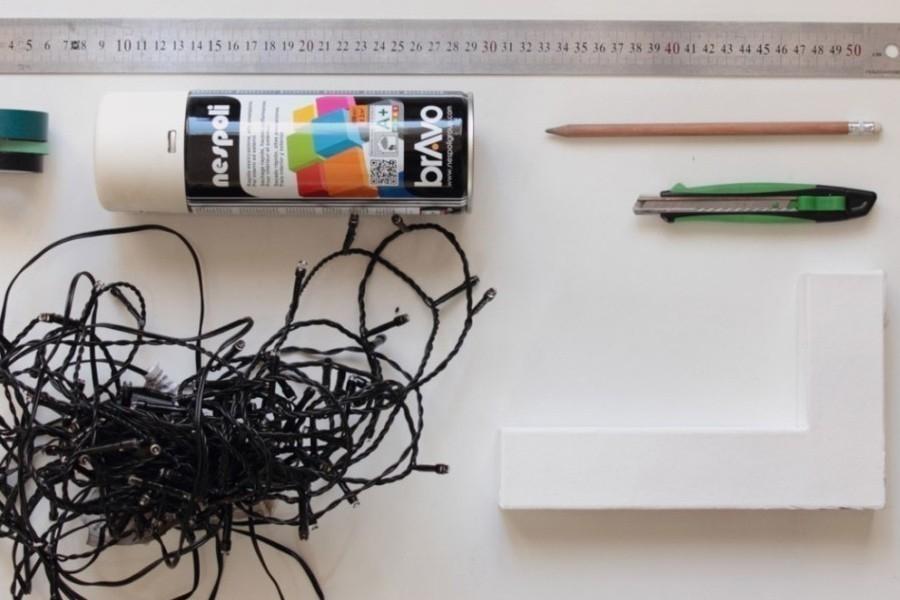 Cómo hacer letras luminosas- materiales