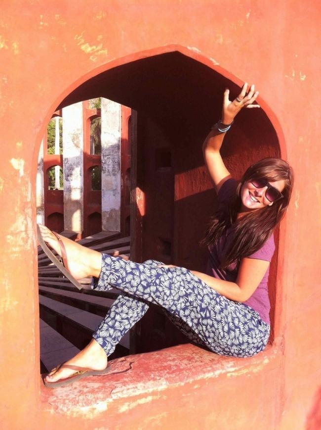 Mujer que se animó a salir a recorrer el mundo- Katy en oriente