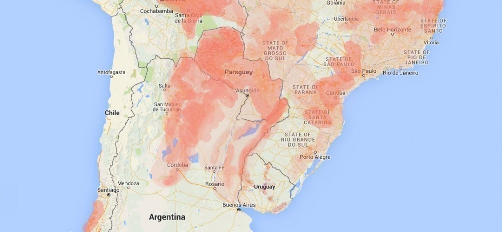 Inundaciones y deforestación - mapa