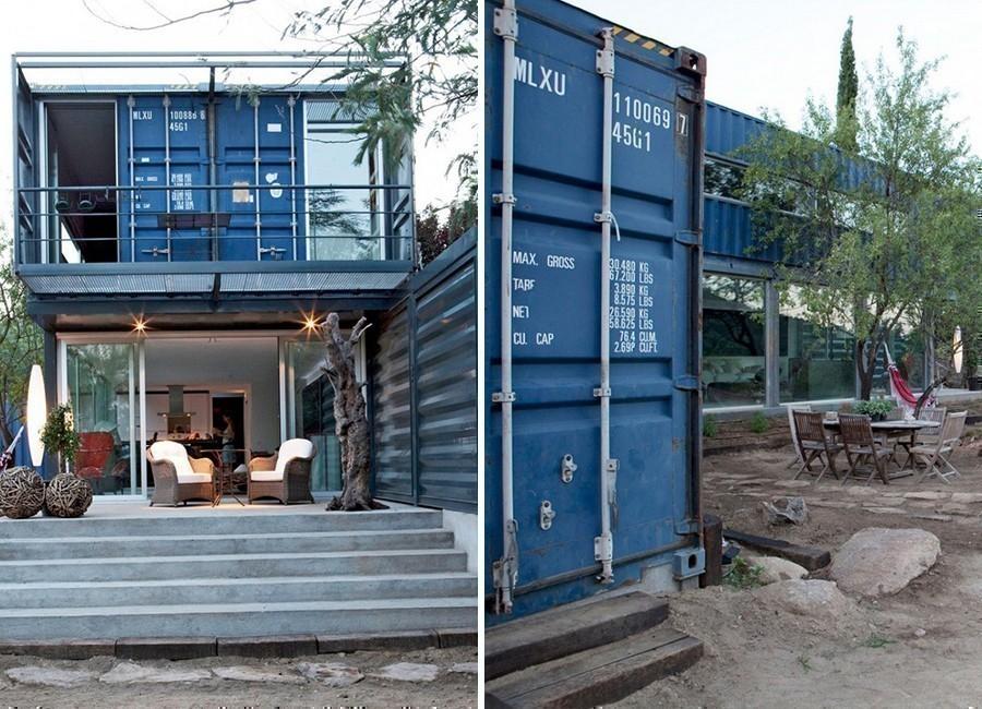 CasaEl Tiemblo- container reciclado- exterior