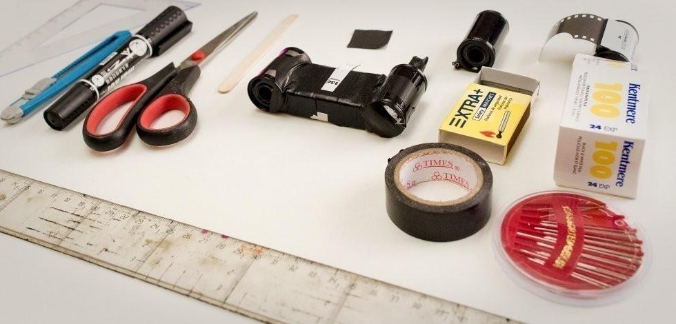 cámara de fotos estenopeica casera - materiales