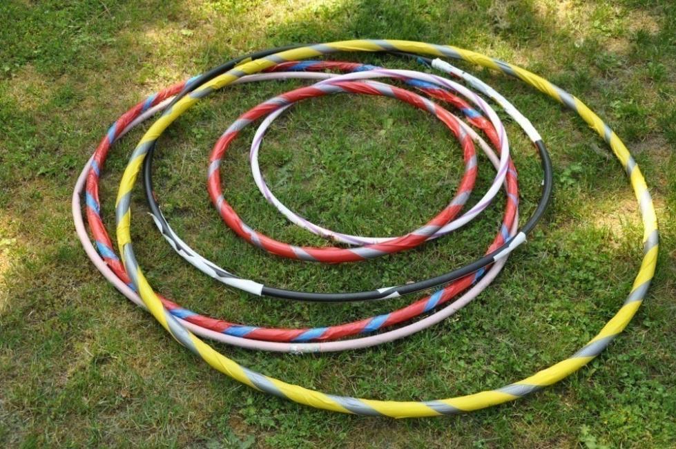 práctico invernadero con aros hula hula - materiales