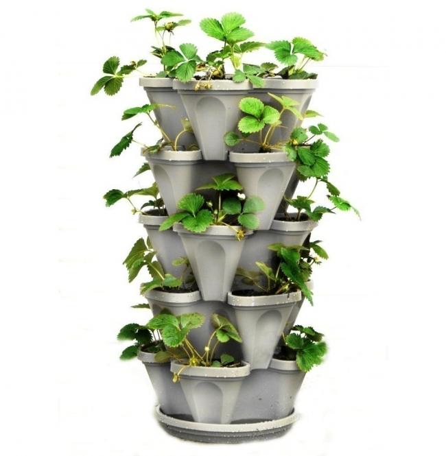 jardín vertical- torre de macetas