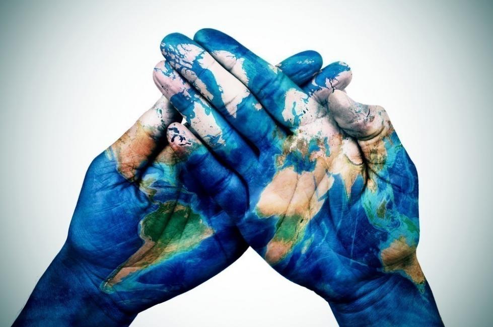 COP21 XXI Conferencia Internacional sobre Cambio Climático - manos