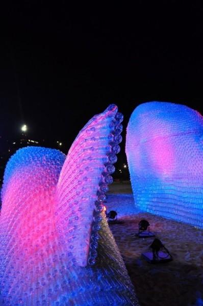 escultura botellas ecologica 4