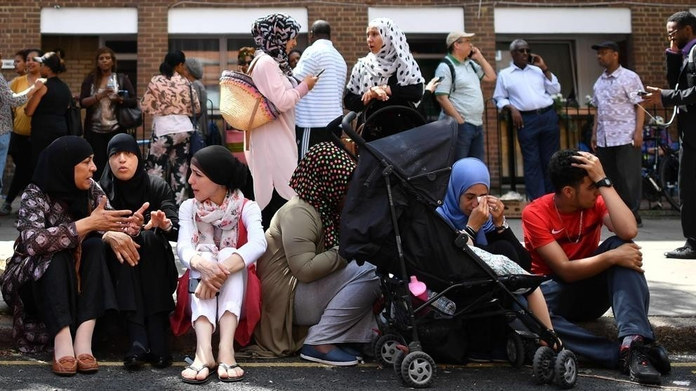 Musulmanes en el incendio de Londres