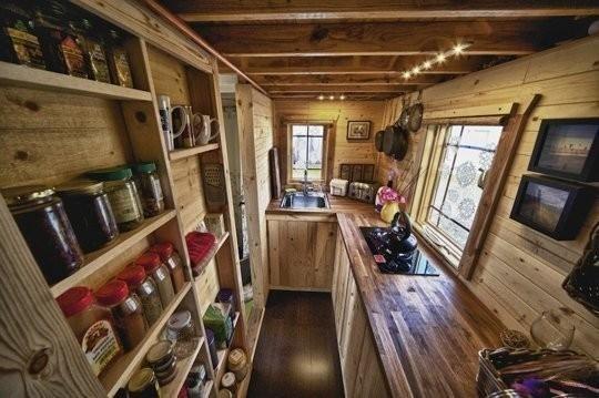 micro-cabañas en el bosque - cocina