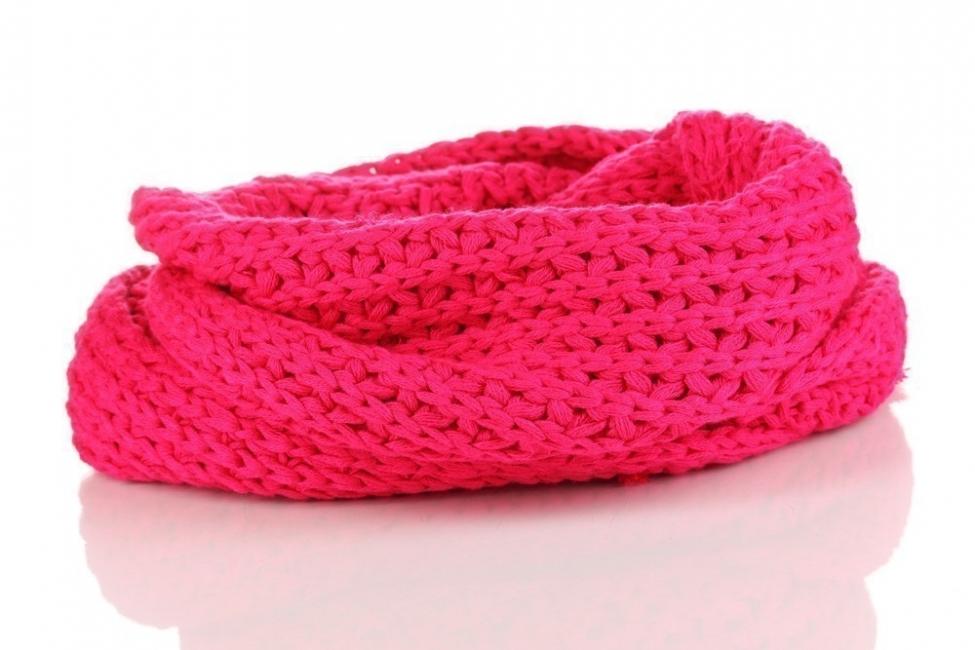 cómo hacer una bufanda sin tejer- terminado