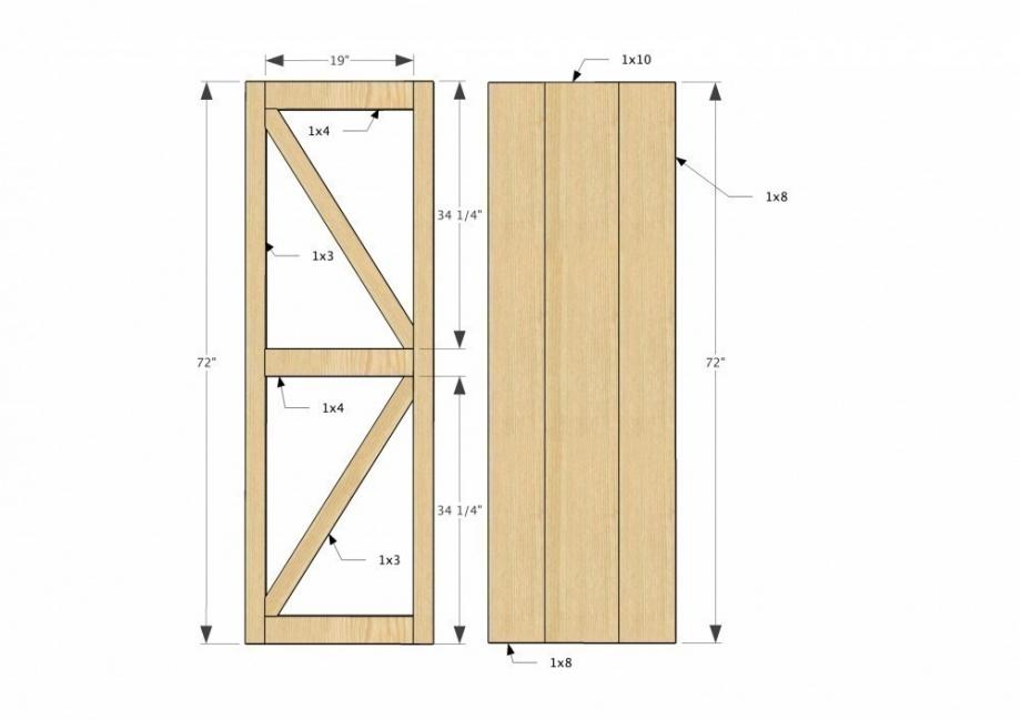 Mueble-estantería multifuncional con puertas corredizas - puerta