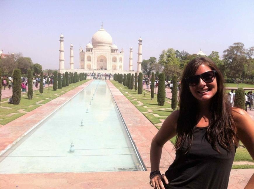 Mujer que se animó a salir a recorrer el mundo- katy viajando por el mundo