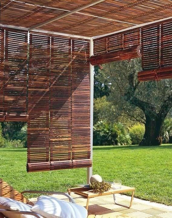 gazebos- Rincones cubiertos para disfrutar del aire libre - cortinas opción