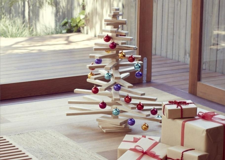 Árboles de Navidad para espacios pequeños - varillas
