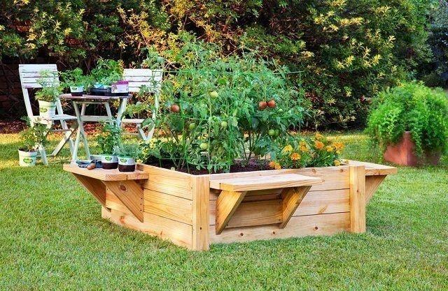 huerta elevada cama elevada para jardinería DIY