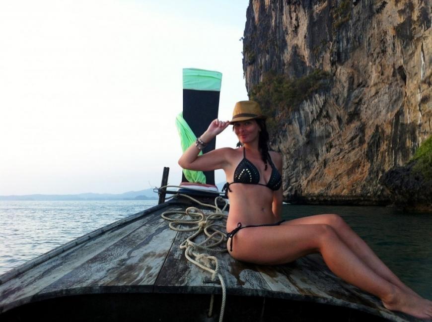 Mujer que se animó a salir a recorrer el mundo- Katy Collins