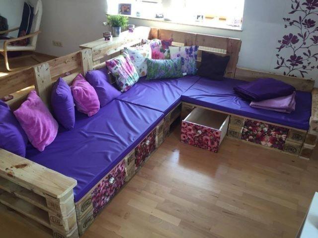 sofa cajoneras con pallets