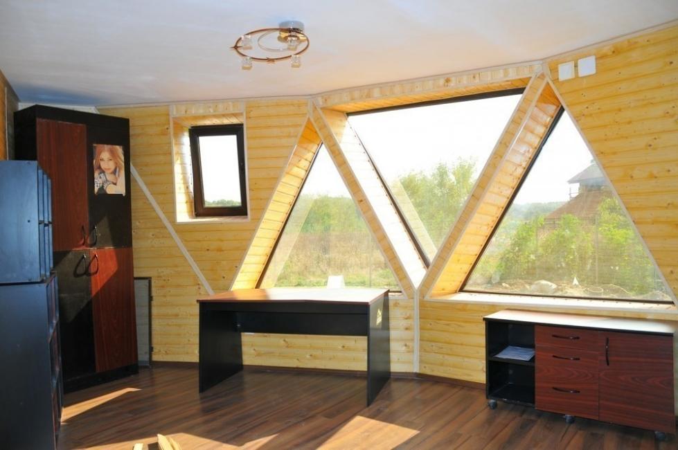 Casas geodésicas construidas con poco dinero- aberturas