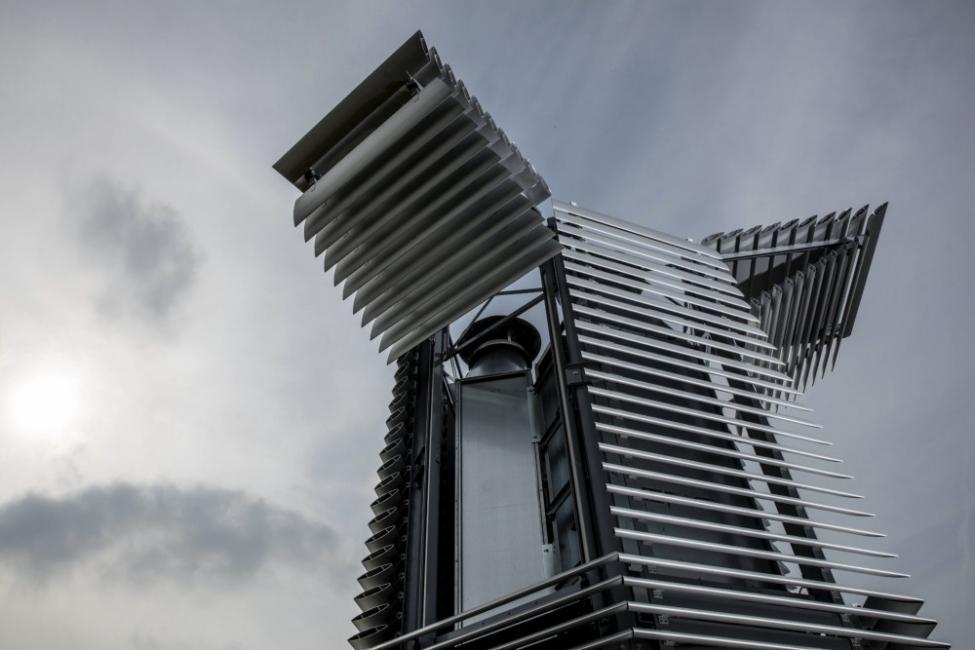 torre descontaminante - Países Bajos